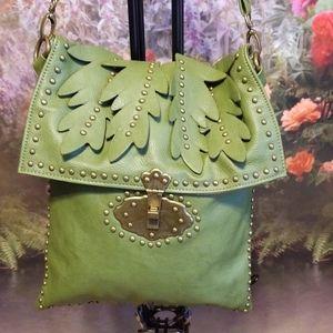 🌿JUST MILLIE FORREST GREEN SHOULDER BAG